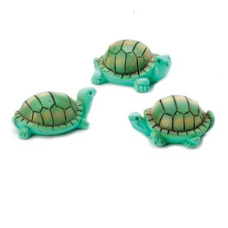 Resin Turtle (Fairy Garden Animals: Resin Mini Turtles, 3 pack )