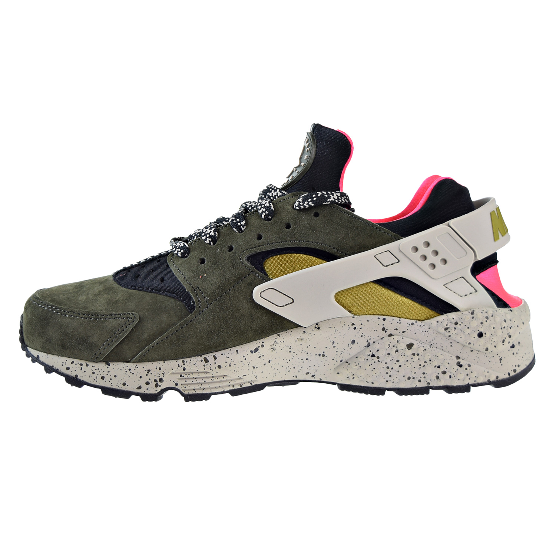 timeless design 9998a 930c1 Nike - Nike Air Huarache Run PRM Mens Running Shoes Black Desert Moss-Solar  Red 704830-010 - Walmart.com