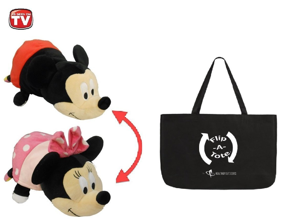 14 inch Flipazoo Disney, Mickey Mouse to Minnie w  Flipatote Flip-a-zoo 2-in-1 Toy that... by Jay At Play