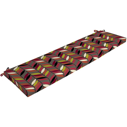 Mainstays Outdoor Bench Cushion, Stick Leaf
