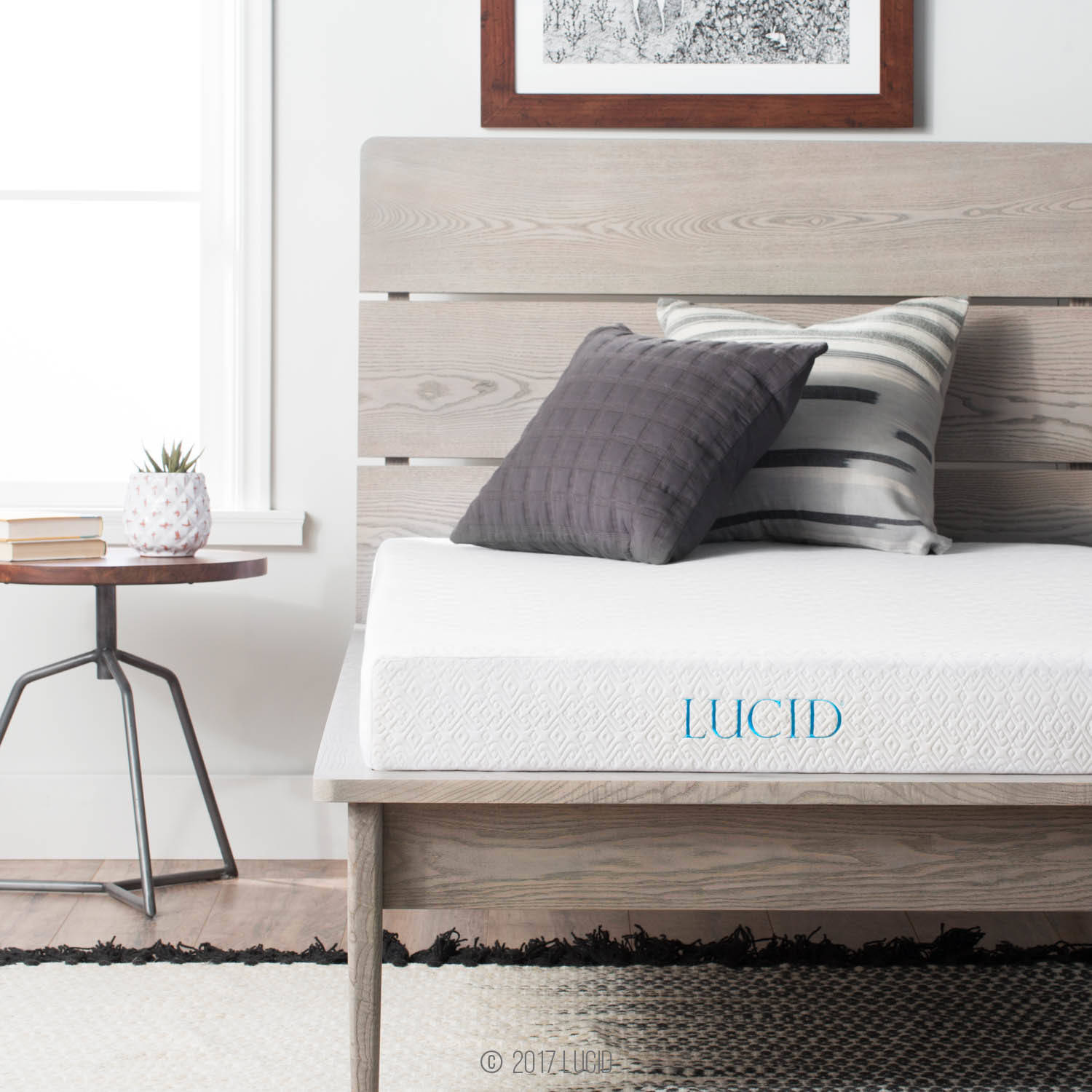 Lucid 5 Inch Gel Memory Foam Mattress, Multiple Sizes