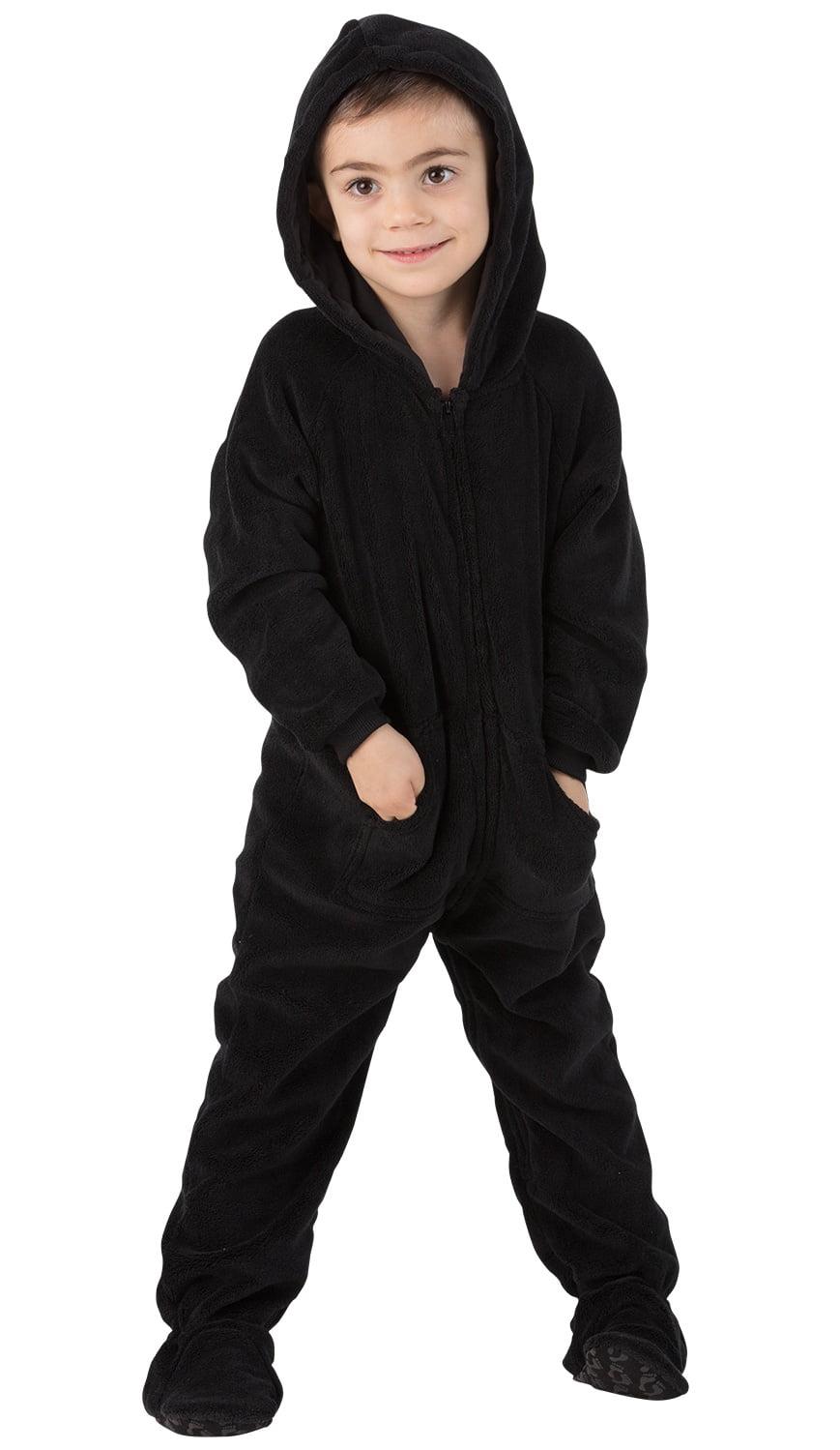 0239c13f3 Footed Pajamas - Footed Pajamas - Jet Black Toddler Hoodie Chenille ...