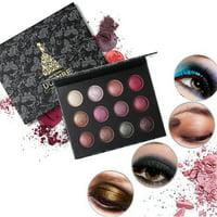 Tuscom Cosmetic Matte Eyeshadow Cream Makeup Palette Shimmer Set 12 Colors Eyeshadow