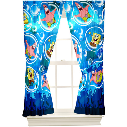 Spongebob Playful Bubble Microfiber Drape