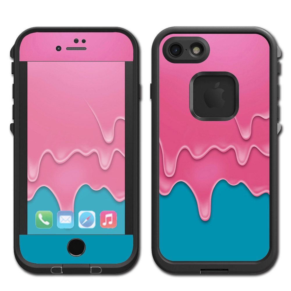 Skins Decals For Lifeproof Fre Iphone 7 Case / Dripping Ice Cream Drips