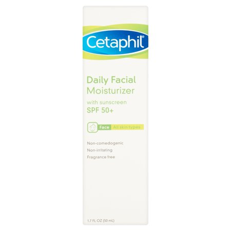 Cetaphil Daily Face Moisturizer, 1.7fl oz, SPF 50+ (All Skin Types)