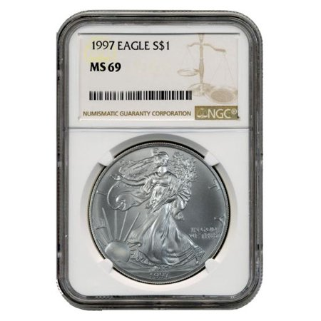 1997 American Silver Eagle NGC MS-69 1 oz