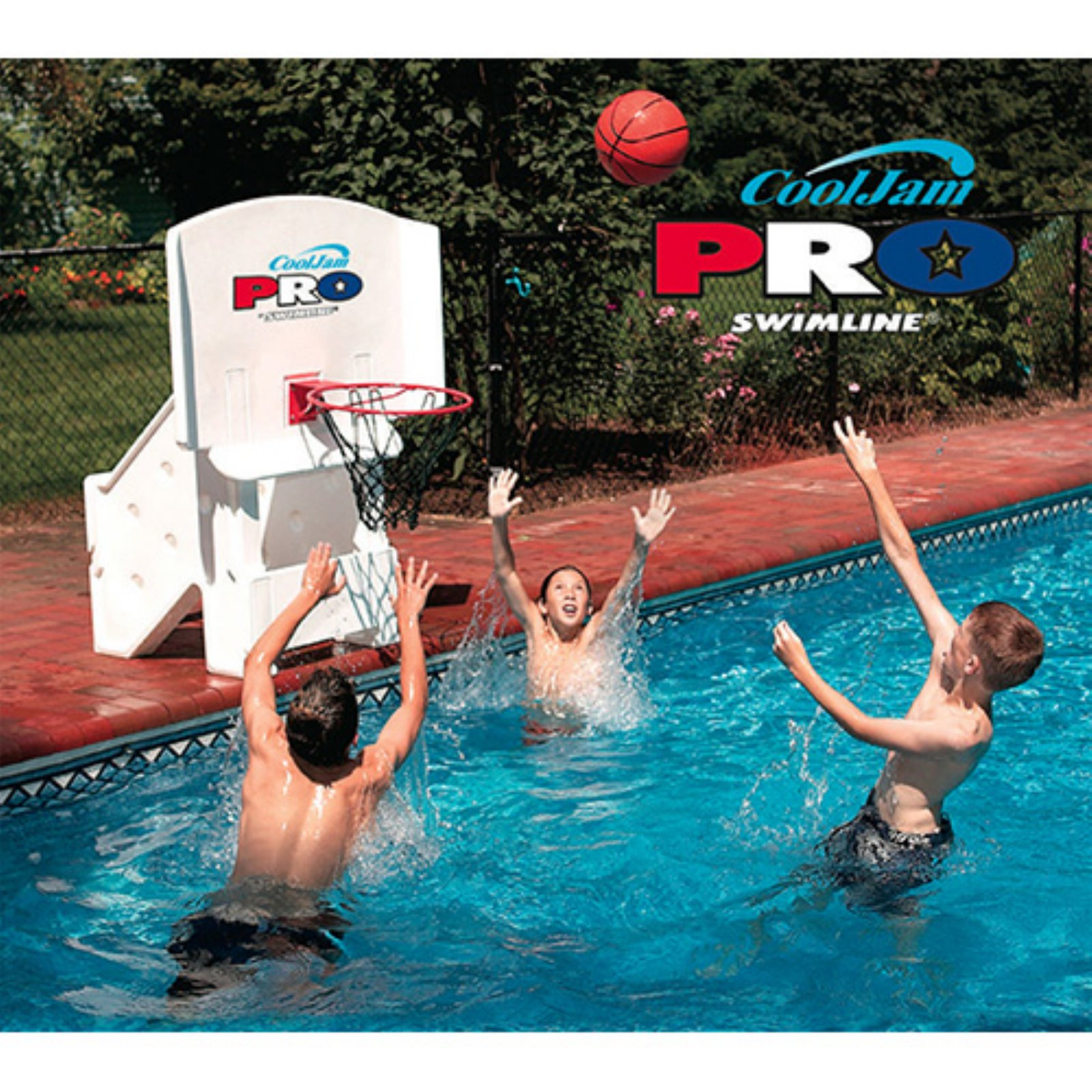 Cool Jam Pro Poolside Basketball Game For In-Ground Pools