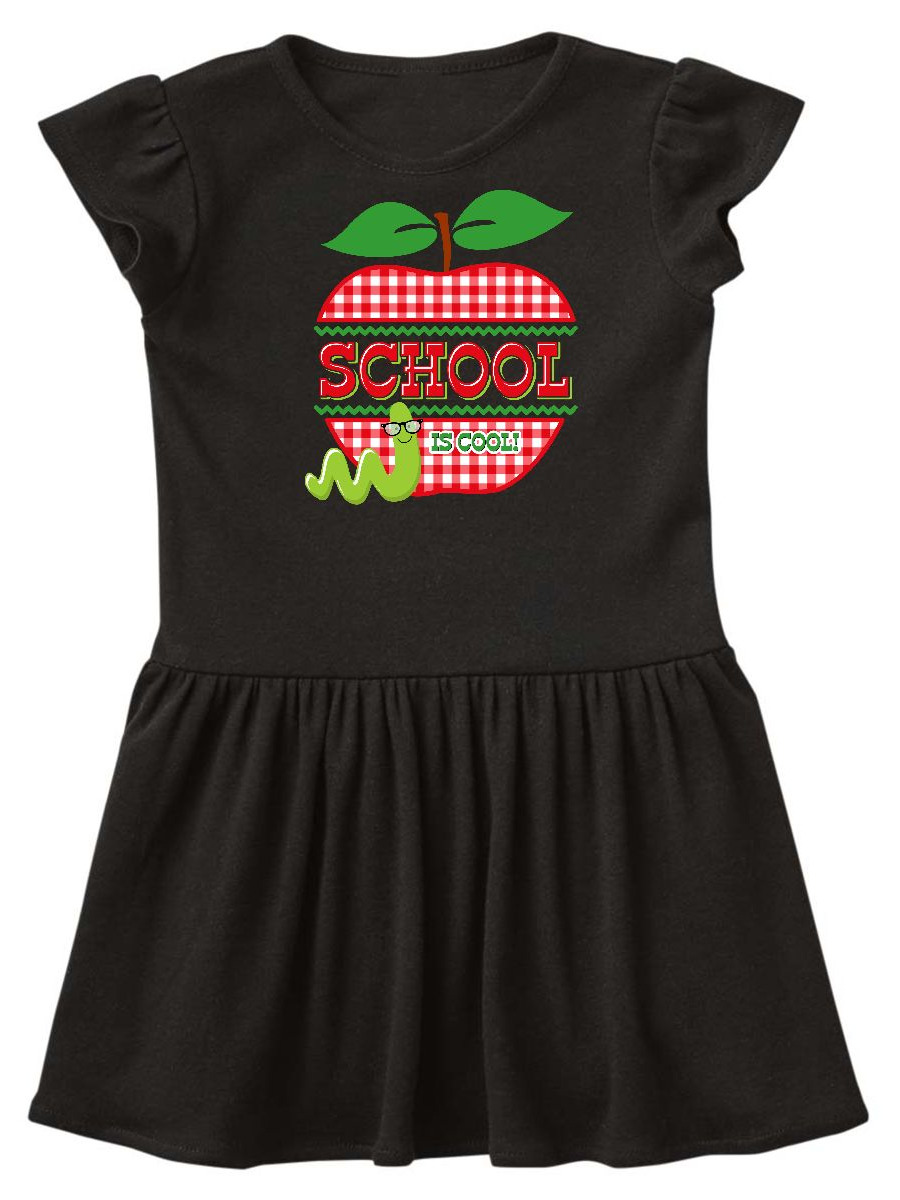 Apple School Is Cool Toddler Dress