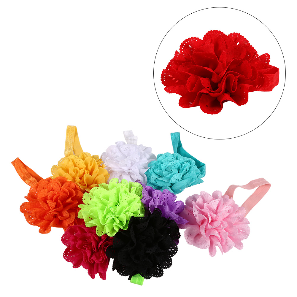 VBESTLIFE 10pcs Cute Headband Hairband Flower Ears Tie Stretch Hair Accessories for Toddler Kids Baby,Baby Headband,Hair Wrap