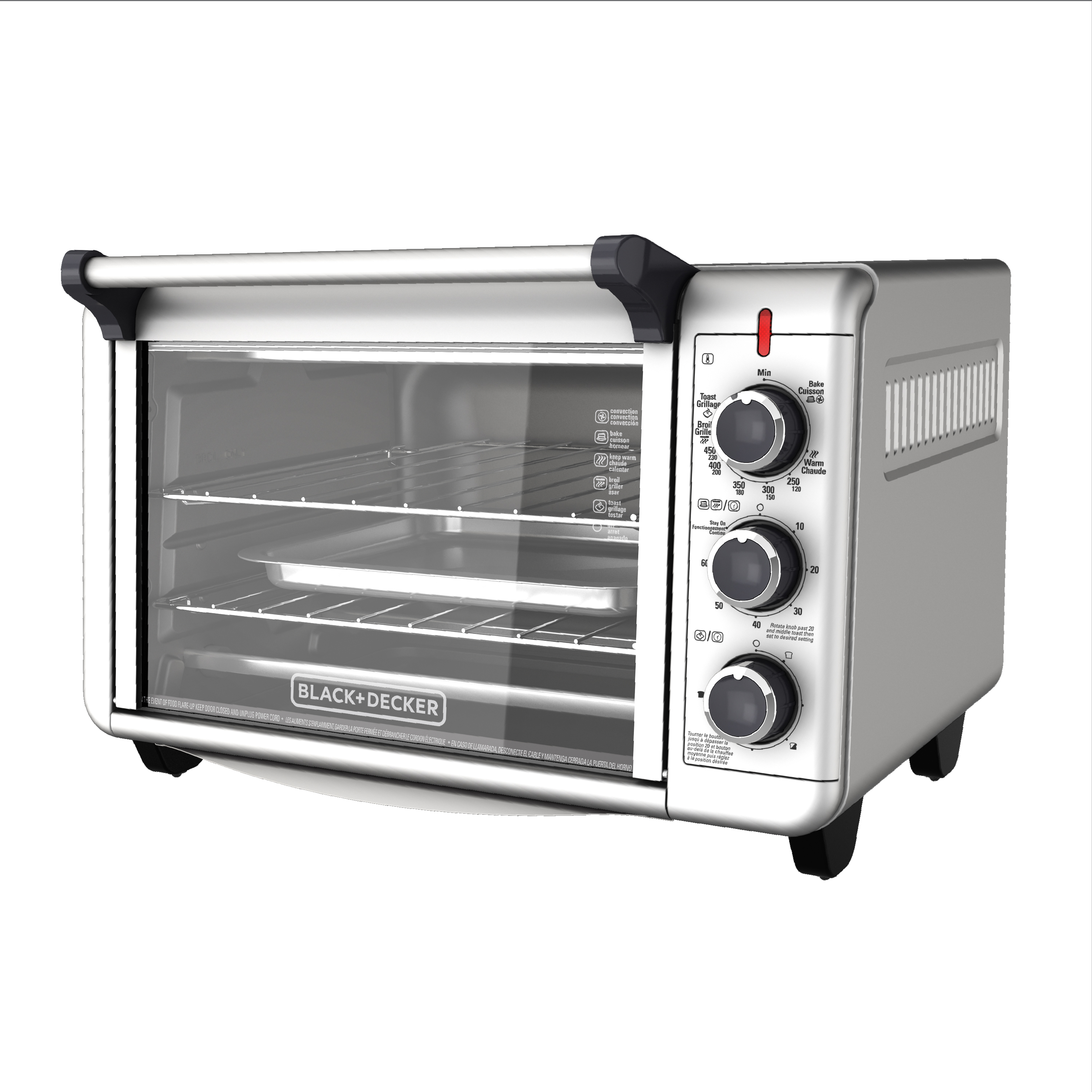 BLACK+DECKER Convection Countertop Oven, Stainless Steel, TO3000G