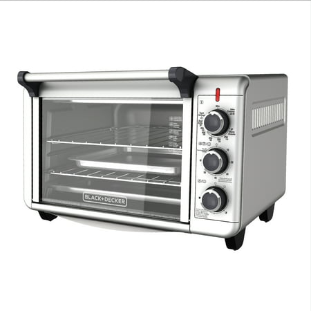 BLACK+DECKER Convection Countertop Oven, Stainless Steel, TO3000G ()