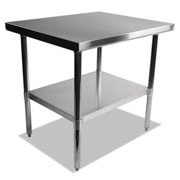 Alera XS3630 36 x 30 x 35 in. Stainless Steel Table, Silver