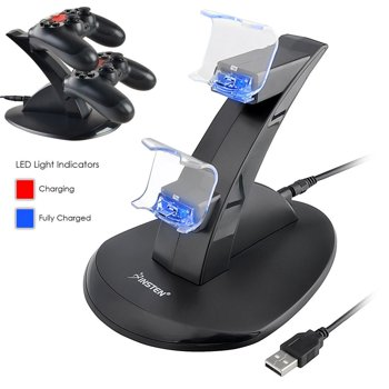 Insten Dual USB Sony Playstation 4 PS4 Controller Charging Station