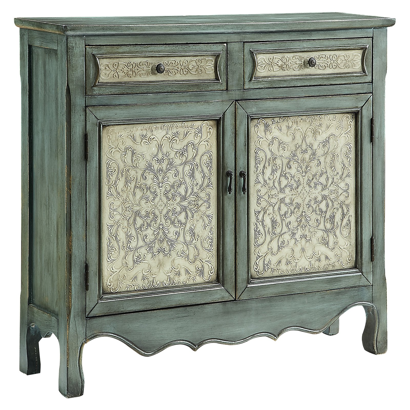 Powell Antique Blue and White Console by Powell Furniture
