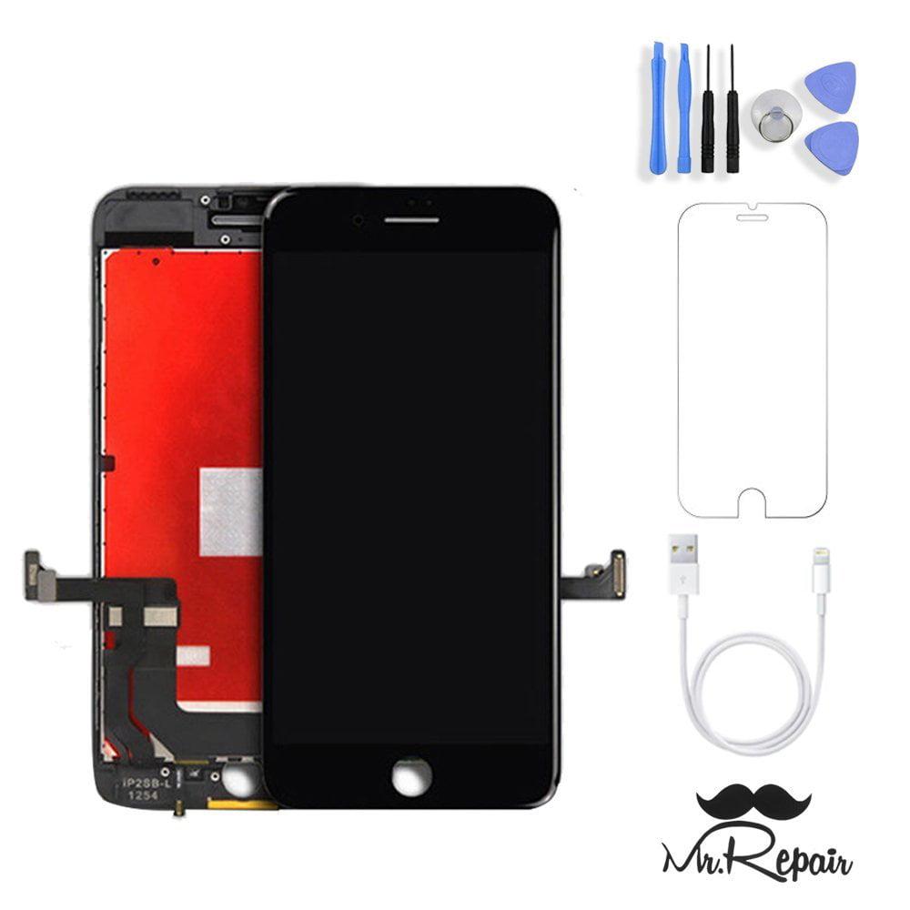 7 Black Premium Glass iPhone 7 Screen Replacement Protector+Free Repair Tool Kits for iPhone 7 Screen Replacement Black 4.7 LCD Touch Screen Digitizer Assembly Set
