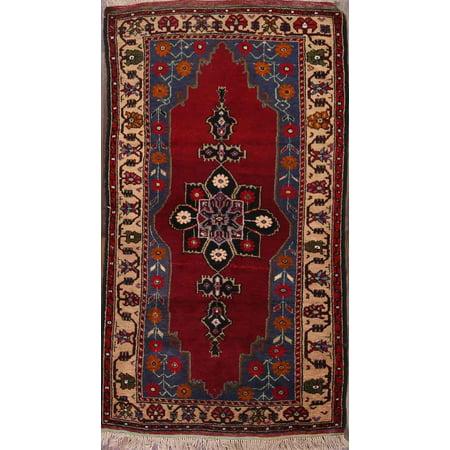 RugSource Hand-Knotted Tribal 4x7 Anatolian Turkish Oriental Area Rug Wool