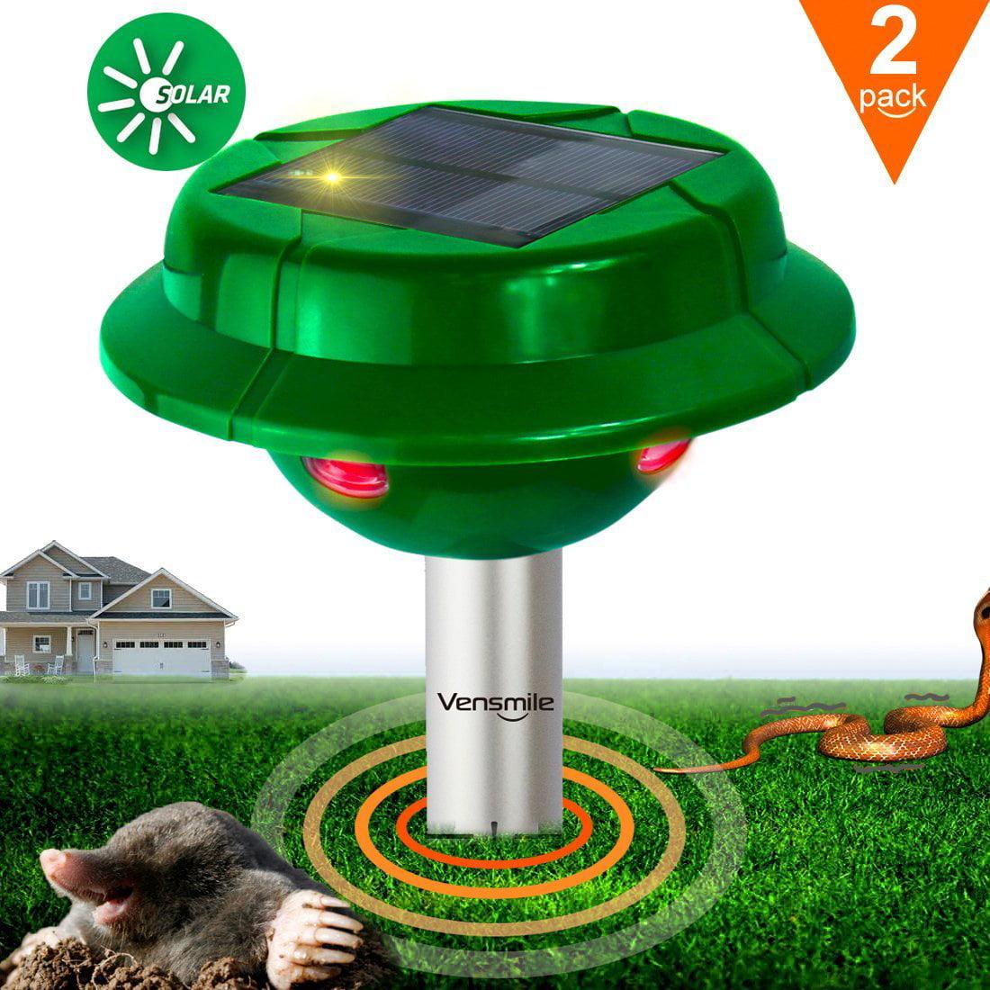 2 x Vensmile Solar Snake Repellent Mole Repeller Control ...