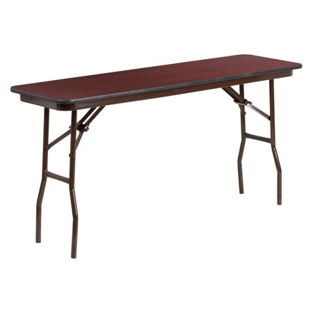 (Flash Furniture YT-1860 60 in. Rectangular Mahogany Laminate Folding Training Table)