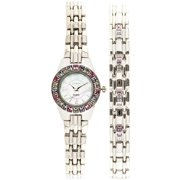 Women's Swarovski Crystal Accented Watch and Bracelet Set, Silver