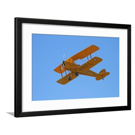 De Havilland Dh 82A Tiger Moth Biplane, Warbirds over Wanaka, Airshow, New Zealand Framed Print Wall Art By David Wall