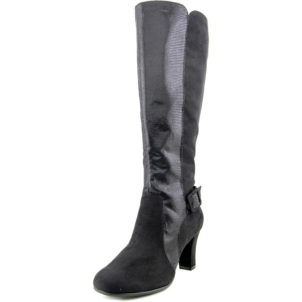 A2 By Aerosoles Money Role Women Round Toe Canvas Black Knee High Boot by A2 By Aerosoles