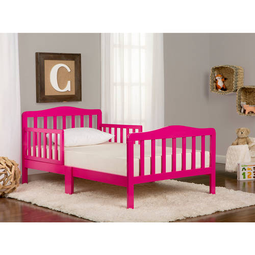 Dream On Me Classic Design Toddler Bed, Fuchsia Pink