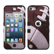 Insten Football/Black TUFF Hybrid Phone Case Cover For iPod Touch 6 6G 5 5G