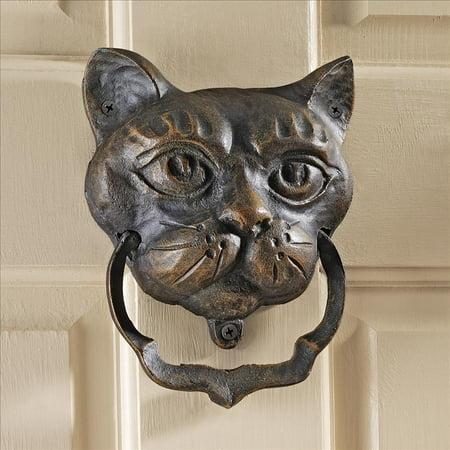 Design Toscano Black Cat Iron Door Knocker