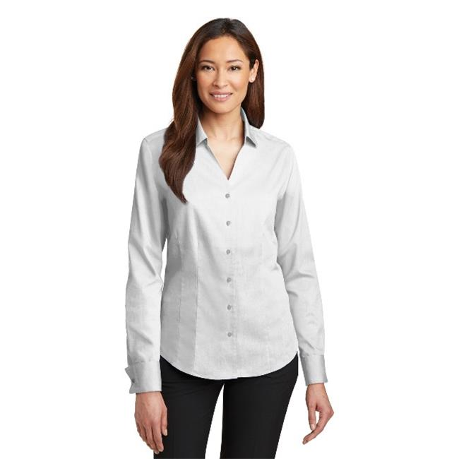 Red House® - Ladies French Cuff Non-Iron Pinpoint Oxford Shirt. Rh63 White S - image 1 of 1