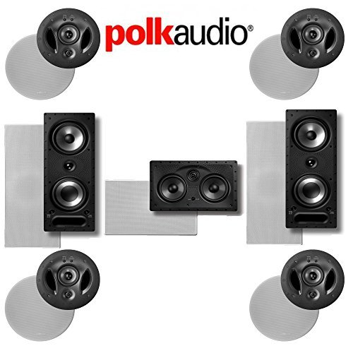 Polk Audio 900LS 7.0-Ch Vanishing Series In-Wall   In-Ceiling Home Theater Speaker System (900-LS + 255C-LS + 265-RT) by Polk Audio