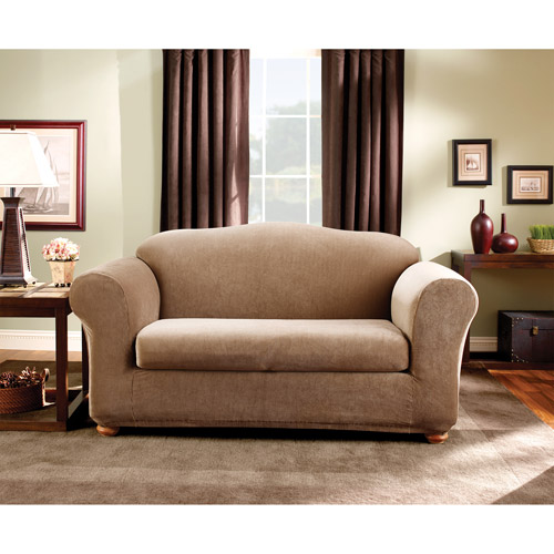 Superbe Sure Fit Stretch Stripe Sofa Slipcover