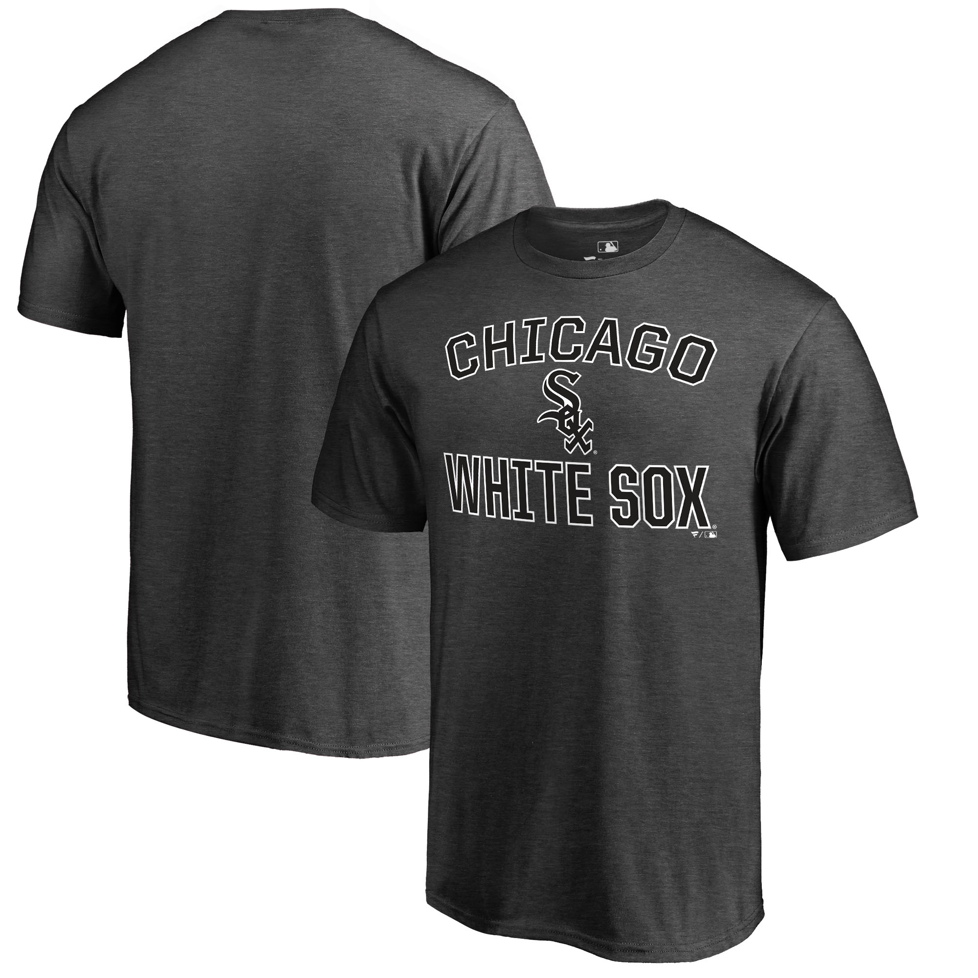 Chicago White Sox Fanatics Branded Core Basics Victory Arch T-Shirt - Heathered Gray