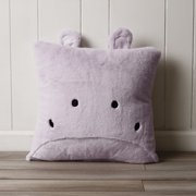 Best Home Fashion Faux Fur Plush Hippo Pillow
