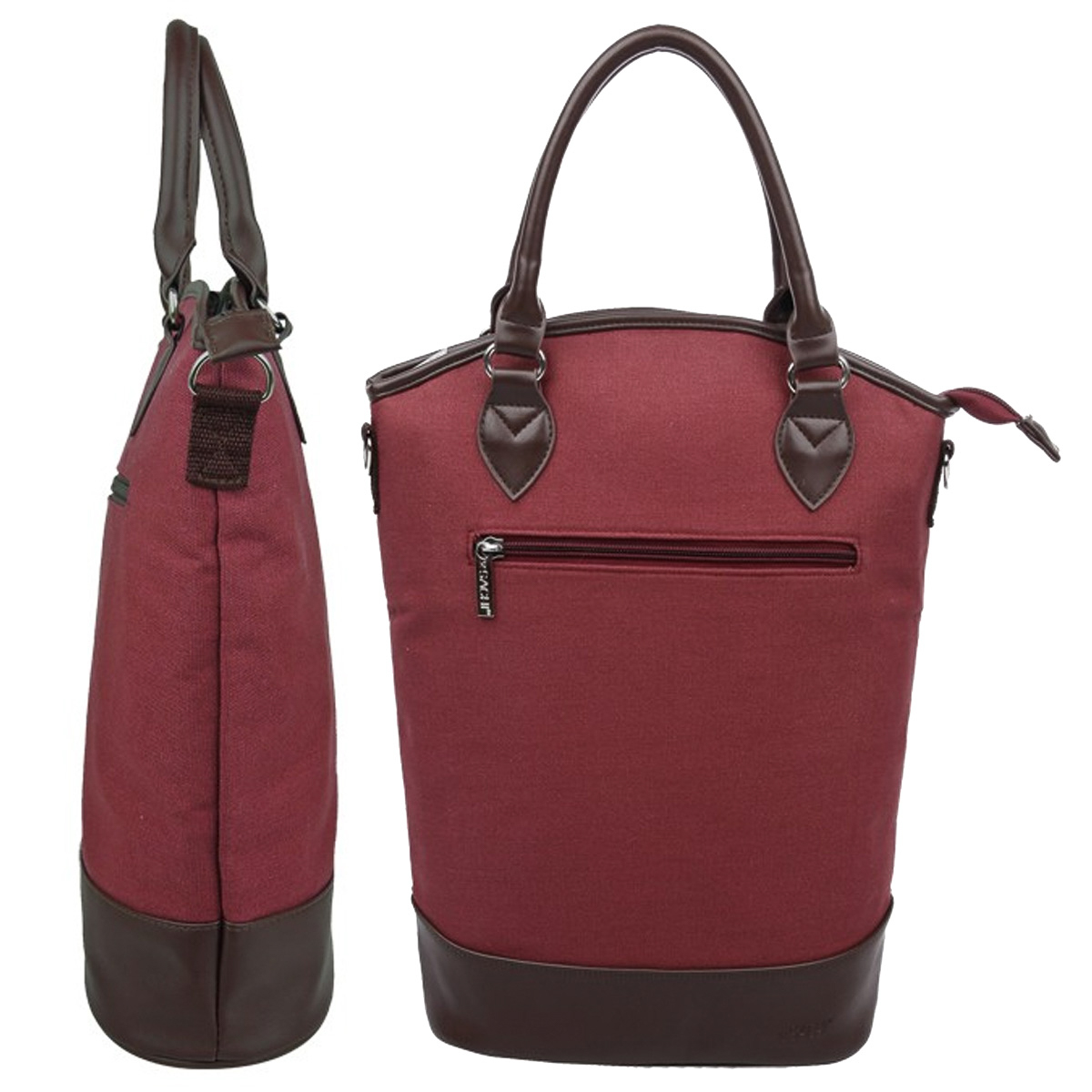 Sachi Vino Fully Lined Thermal Insulated Wine Tote 3 Bottle Carrier Bag w/Strap