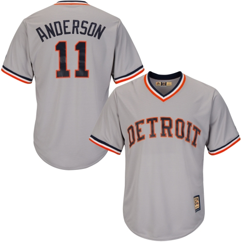 Sparky Anderson Detroit Tigers Majestic Cool Base Cooperstown Collection Player Jersey - Gray