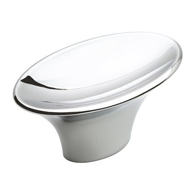 Sleek 1-15/16 in (49 mm) Length Polished Chrome Cabinet Knob