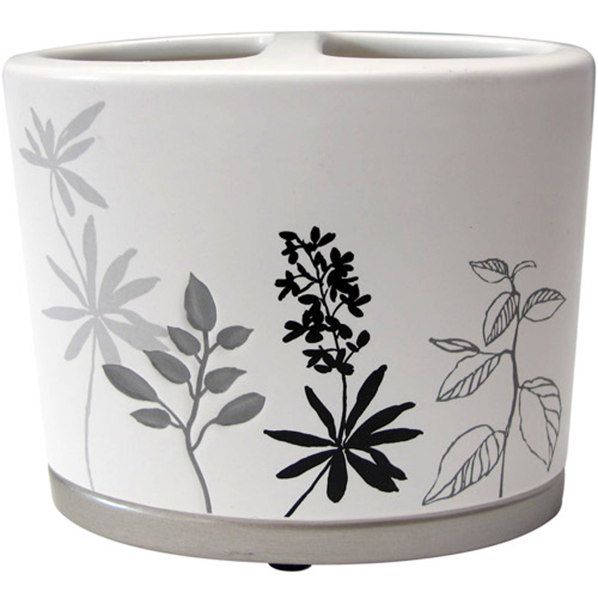 Better Homes and Gardens Tranquil Leaves Decorative Bath Collection - Toothbrush Holder