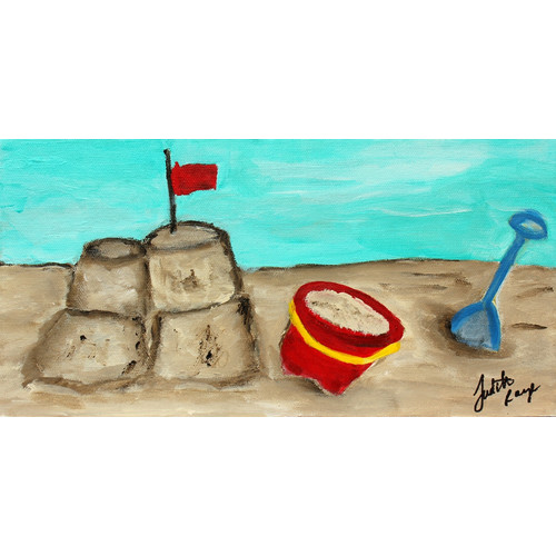 Judith Raye Paintings LLC Sandcastle by Judith Raye Painting Print