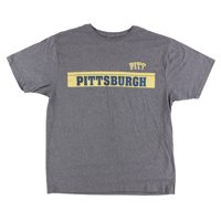 Old Varsity Mens Pittsburgh Panthers College Baseline T Shirt Grey M