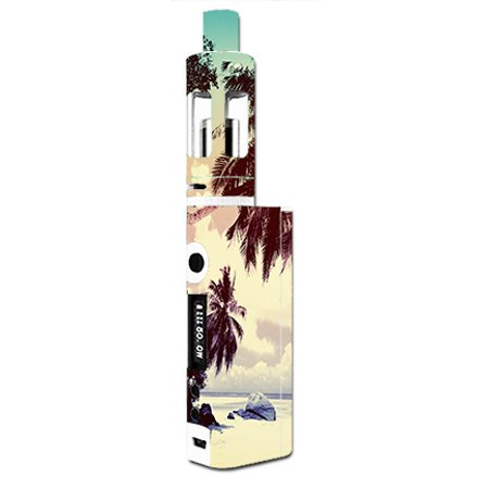 - Skin Decal For Kangertech Subox Mini Vape Mod / Faded Beach Palm Tree Tropical