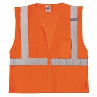 CONDOR High Visibility Vest,Class 2,3XL,Lime 3ZDP5