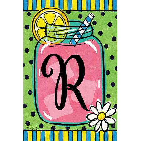 Custom Decor Garden Flag - Lemonade Monogram R