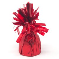 Foil Balloon Weight Party Decorations, 4-1/2-Inch, Red