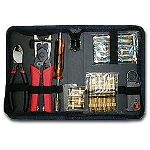 Platinum Tools Coaxial Termination Kit with Nylon Zip Case (90123)