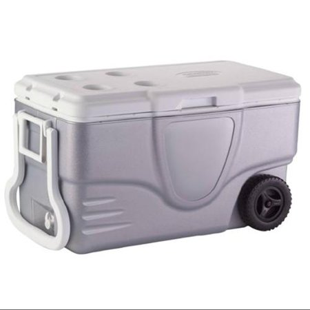COLEMAN Camping Tailgating 62 Quart Xtreme 5 Wheeled Ice Chest Cooler Gray