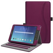 For Samsung Galaxy Tab E 8.0 Case, Fintie Multi-Angle Viewing Stand Cover with Card Pocket Sleep/Wake SM-T377, Purple