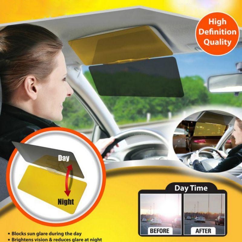 Car Windshield HD Vision Visor Clip On Sun Visor Day Anti-Glare Sun Shade And Night Anti-Dazzle Extender