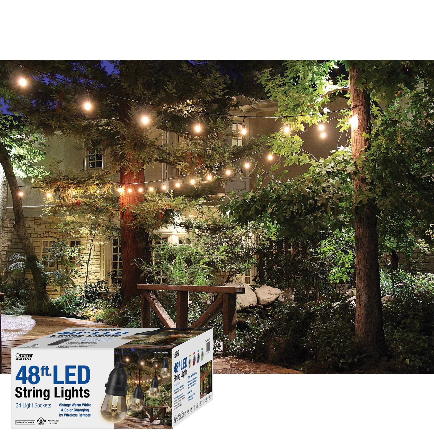 Outdoor String Lights Philippines: Feit Electric 30 Ft Colour Changing Led Outdoor String