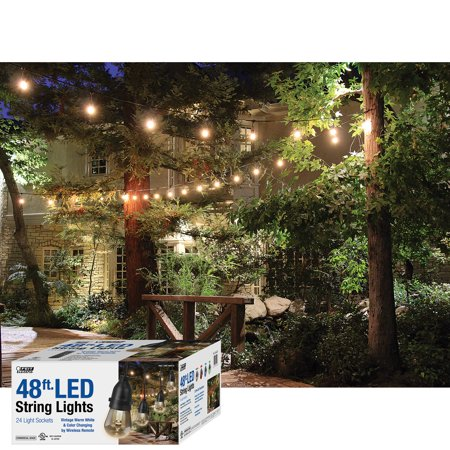 Feit Electric String Lights Awesome Feit 60ft LED Outdoor Weatherproof Color Changing String Light Set